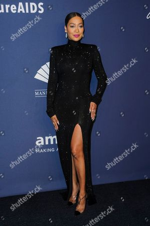 Lala Anthony attends the amfAR Gala New York AIDS research benefit at Cipriani Wall Street, in New York
