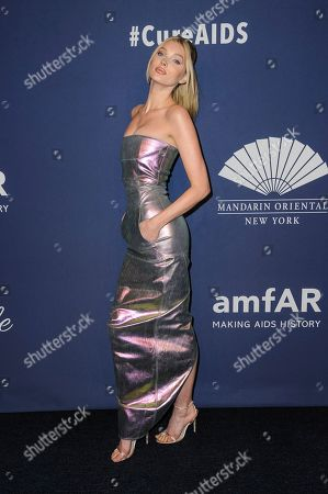 Elsa Hosk attends the amfAR Gala New York AIDS research benefit at Cipriani Wall Street, in New York