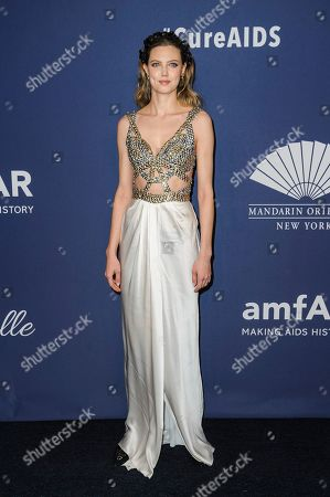 Lindsey Wixson attends the amfAR Gala New York AIDS research benefit at Cipriani Wall Street, in New York