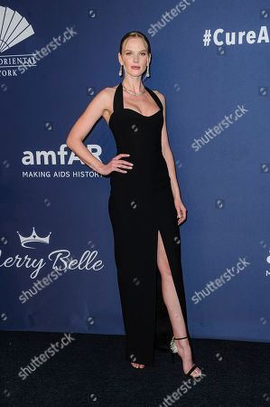 Anne Vyalitsyna attends the amfAR Gala New York AIDS research benefit at Cipriani Wall Street, in New York
