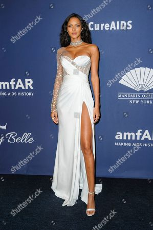 Lais Ribeiro attends the amfAR Gala New York AIDS research benefit at Cipriani Wall Street, in New York