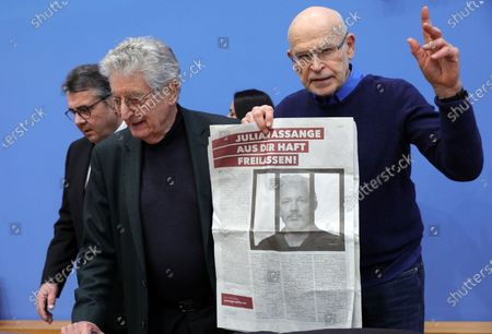 Editorial photo of Appeal for the release of Julian Assange, Berlin, Germany - 06 Feb 2020