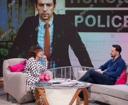 Lorraine Kelly and Ralf Little