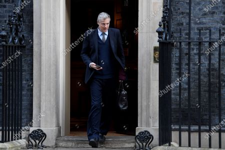 Stock Photo of Zac Goldsmith, Minister of State for the Environment and International Development, leaves a Cabinet meeting at No.10 Downing Street.