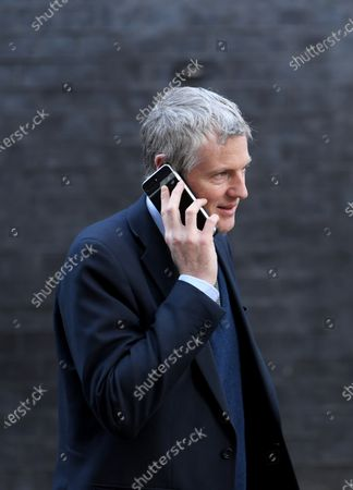 Stock Image of Zac Goldsmith, Minister of State for the Environment and International Development, leaves a Cabinet meeting at No.10 Downing Street.