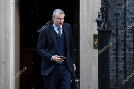 Stock Picture of Zac Goldsmith, Minister of State for the Environment and International Development, leaves a Cabinet meeting at No.10 Downing Street.