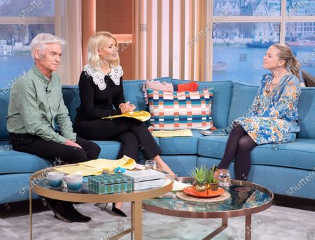Phillip Schofield and Holly Willoughby with Kellie Bright