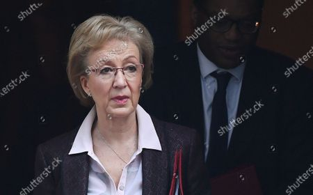 British Secretary of State for Business, Energy and Industrial Strategy Andrea Leadsom departs a cabinet meeting at 10 Downing Street in London, Britain, 06 February 2020. British Prime Minister Boris Johnson is expected to reshuffle his cabinet next week.