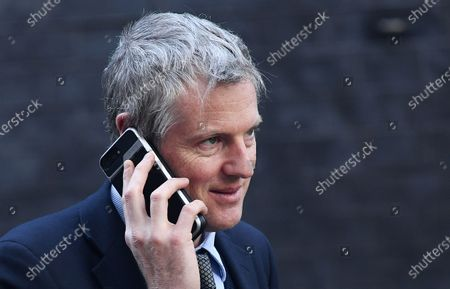 British Minister of State for Environment and International Development Zac Goldsmith departs a cabinet meeting at 10 Downing Street in London, Britain, 06 February 2020. British Prime Minister Boris Johnson is expected to reshuffle his cabinet next week.