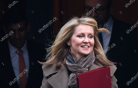 British Minister of State for Housing Esther McVey departs a cabinet meeting at 10 Downing Street in London, Britain, 06 February 2020. British Prime Minister Boris Johnson is expected to reshuffle his cabinet next week.