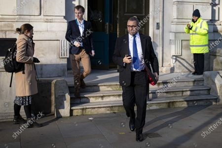 Co-Chairman of the Conservative Party James Cleverly leaves the Cabinet Office after the Cabinet meeting.