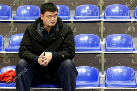 Chinese basketball executive Yao Ming attends the Women's Olympic Qualifying Tournament basketball game between China and Britain in Belgrade, Serbia, 06 February 2020.