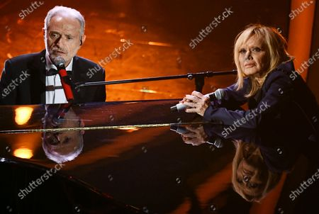 Stock Image of Amedeo Minghi (L) and Rita Pavone (R) perform on stage at the Ariston theatre during the 70th Sanremo Italian Song Festival in Sanremo, Italy, 06 February 2020. The festival runs from 04 to 08 February.