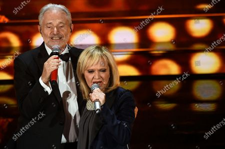 Amedeo Minghi (L) and Rita Pavone (R) perform on stage at the Ariston theatre during the 70th Sanremo Italian Song Festival in Sanremo, Italy, 06 February 2020. The festival runs from 04 to 08 February.