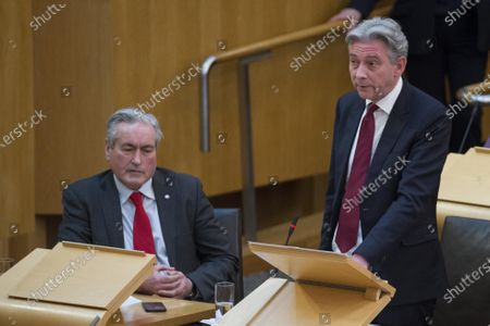 Scottish Parliament First Minister's Questions - Iain Gray and Richard Leonard, Leader of the Scottish Labour Party.