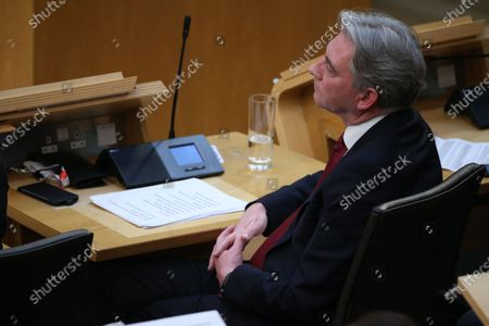 Stock Image of Scottish Parliament First Minister's Questions - Richard Leonard, Leader of the Scottish Labour Party.