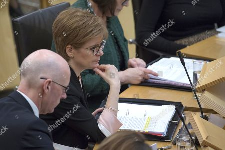 Scottish Parliament First Minister's Questions - John Swinney, Deputy First Minister and Cabinet Secretary for Education and Skills, and Nicola Sturgeon, First Minister of Scotland and Leader of the Scottish National Party (SNP).