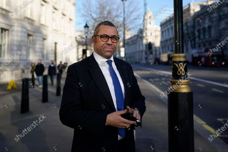 Conservative Party Chairman James Cleverly leaves after a cabinet meeting in Whitehall in London, Britain, 06 February 2020. British Prime Minister Boris Johnson is expected to reshuffle his cabinet next week.
