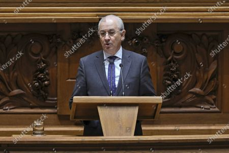 The President of Social Democratic Party Rui Rio speaks during the parliamentary debate on the final overall vote on the State Budget for 2020 at the Portuguese Parliament in Lisbon, Portugal, 06 February 2020.