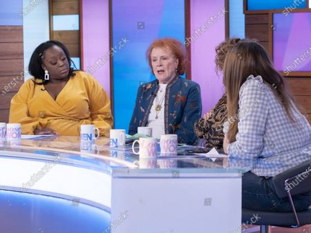 Stock Picture of Judi Love, Judy Parfitt, Nadia Sawalha and Stacey Solomon