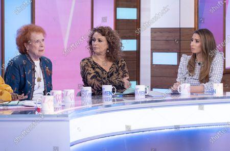 Judy Parfitt, Nadia Sawalha and Stacey Solomon