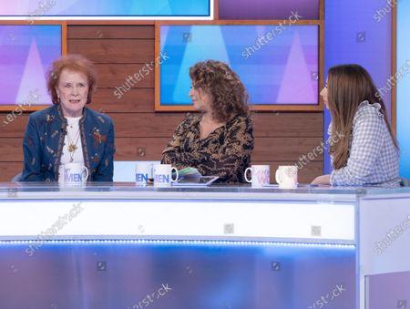 Stock Image of Judy Parfitt, Nadia Sawalha and Stacey Solomon