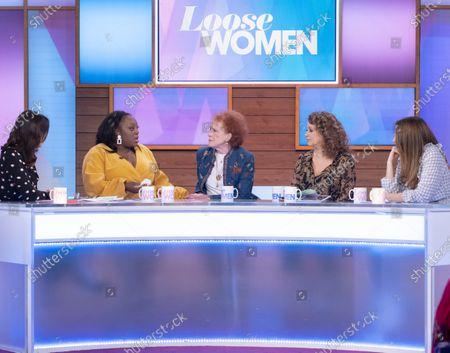 Andrea McLean, Judi Love, Judy Parfitt, Nadia Sawalha and Stacey Solomon