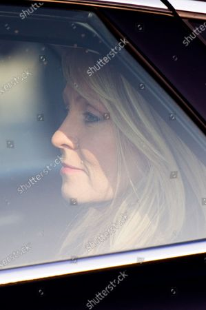 British Minister of State for Housing Esther McVey leaves Parliament after a cabinet meeting at 10 Downing Street