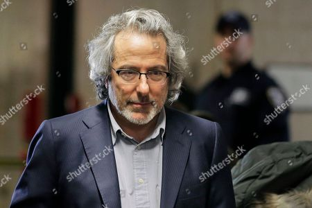 Stock Photo of Warren Leight arrives at a Manhattan courthouse to testify in Harvey Weinstein's rape trial in New York