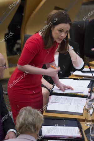 Stock Image of Scottish Budget 2020-21 - Kate Forbes, Minister for Public Finance and Digital Economy, steps in to deliver the ministerial statement on the Scottish Budget after Derek Mackay resigned as Cabinet Secretary for Finance, Economy and Fair Work.