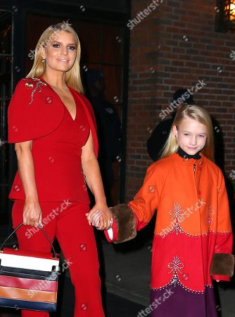 Editorial photo of Jessica Simpson and family out and about, New York, USA - 05 Feb 2020