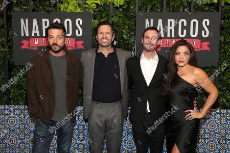 Diego Luna, Eric Newman, Scoot McNairy, and Teresa Ruiz