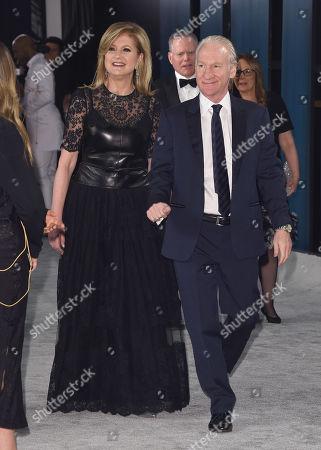 Stock Photo of Arianna Huffington and Bill Maher
