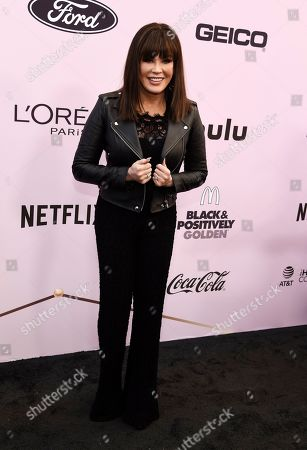 Marie Osmond poses at the 13th Annual ESSENCE Black Women in Hollywood Awards Luncheon, in Beverly Hills, Calif