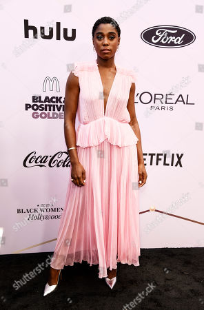 Stock Picture of Lashana Lynch poses at the 13th Annual ESSENCE Black Women in Hollywood Awards Luncheon, in Beverly Hills, Calif