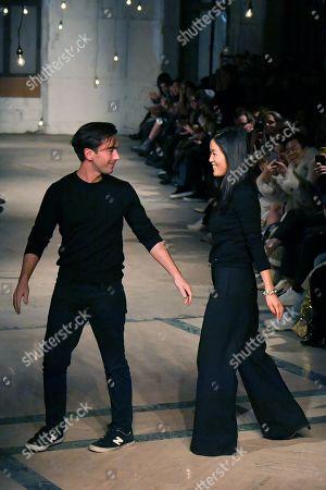 Stock Photo of Laura Kim and Fernando Garcia on the catwalk