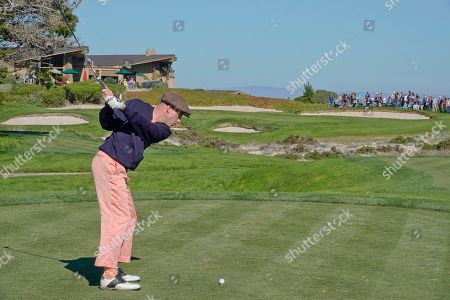 Macklemore plays a wonderful tee shot on the 5th at Spyglass Hill