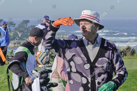 Bill Murray on the 4th tee at Spyglass Hill fairway
