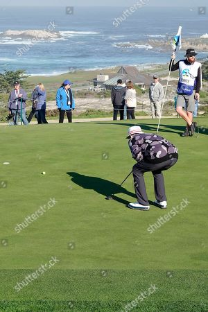 Bill Murray on the 2nd green at Spyglass Hill fairway
