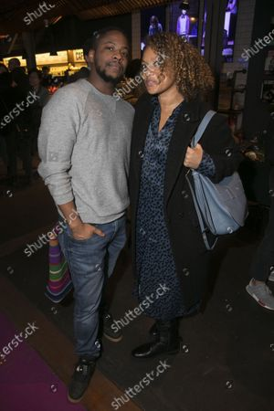 Stock Picture of Adetomiwa Edun and Angela Griffin