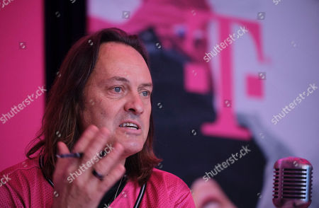 T-Mobile CEO John Legere, answers caller questions during the T-Mobile Q4 and Full-Year 2019 Earnings call on in Bellevue, Wash. Currently in the process of a merger with Sprint, Legere and the Un-carrier executive team spoke about how they continue to change the rules of wireless by putting customers first