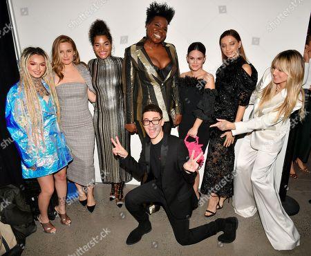 Zhavia Ward, Alicia Silverstone, Indya Moore, Christian Siriano, Leslie Jones, Rachel Bilson, Angela Sarafyan and Heidi Klum backstage