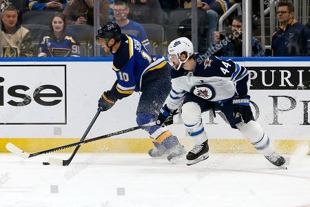 Editorial picture of Jets Blues Hockey, St. Louis, USA - 06 Feb 2020