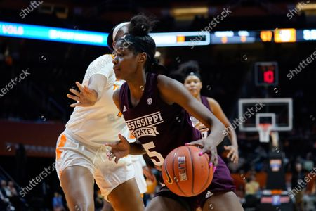 Rickea Jackson #5 of the Mississippi State Bulldogs drives to the basket during the NCAA basketball game between the University of Tennessee Lady Volunteers and the Mississippi State University Bulldogs at Thompson Boling Arena in Knoxville TN Tim Gangloff/CSM