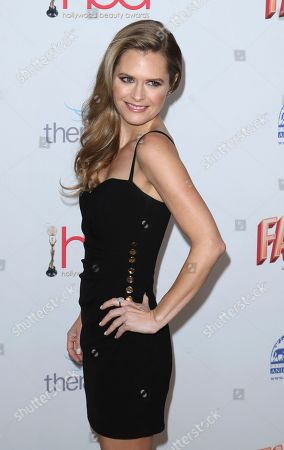 Maggie Lawson arrives at the 6th Annual Hollywood Beauty Awards at the Taglyan Complex, in Los Angeles