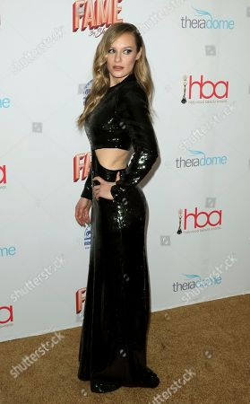 Stock Image of Danielle Savre arrives at the 6th Annual Hollywood Beauty Awards at the Taglyan Complex, in Los Angeles