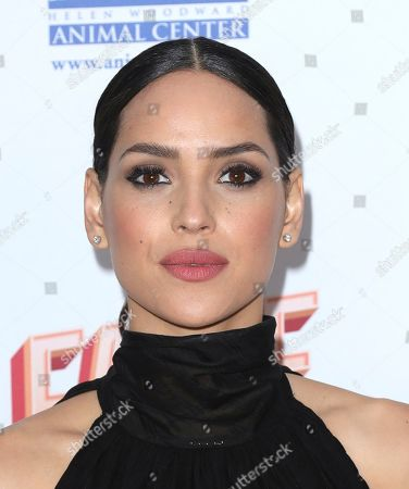 Adria Arjona arrives at the 6th Annual Hollywood Beauty Awards at the Taglyan Complex, in Los Angeles