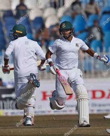 Najmul Hossain Shanto Mahmudullah. Bangladesh batsmen Najmul Hossain Shanto and Mahmudullah run between the wickets during the first day of their 1st test cricket match against Pakistan at Rawalpindi cricket stadium in Rawalpindi, Pakistan