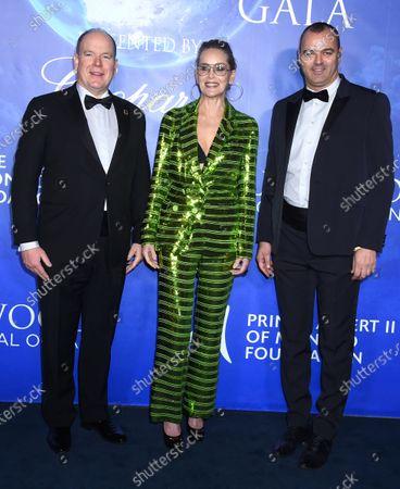 Prince Albert II, Sharon Stone and Milutin Gatsby