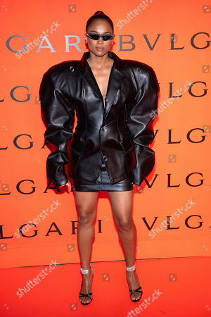 Ciara attends the Bulgari New York Fashion Week party at Duggal Greenhouse, in New York
